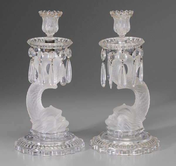 471: Pair Baccarat Dolphin Candlesticks