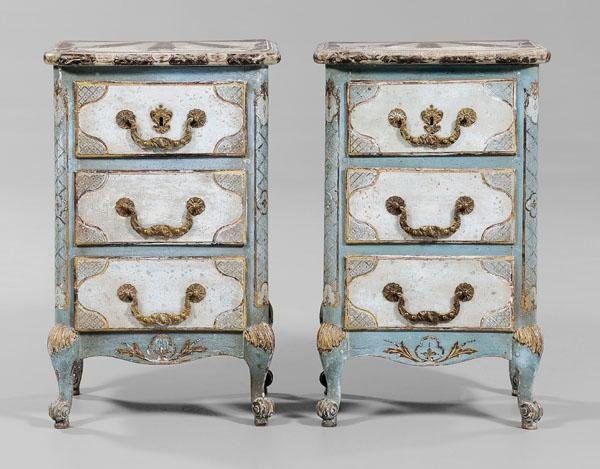 798: Pair Louis XV Style Commodes