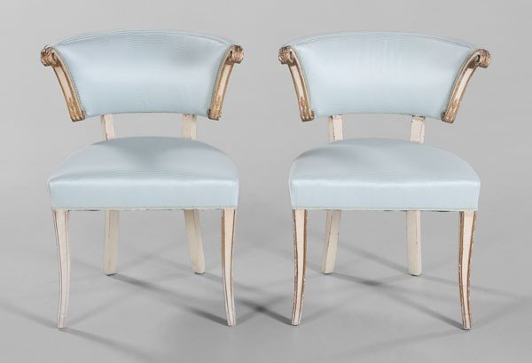 817: Pair Empire Style Armchairs