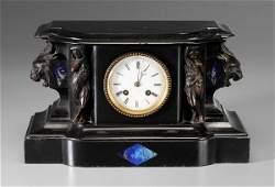 865: Polished Slate Shelf Clock