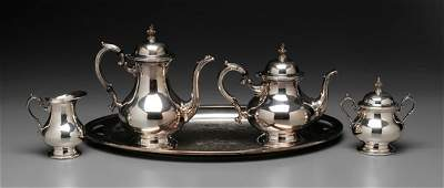 482: Gorham Silver-Plated Tea Service