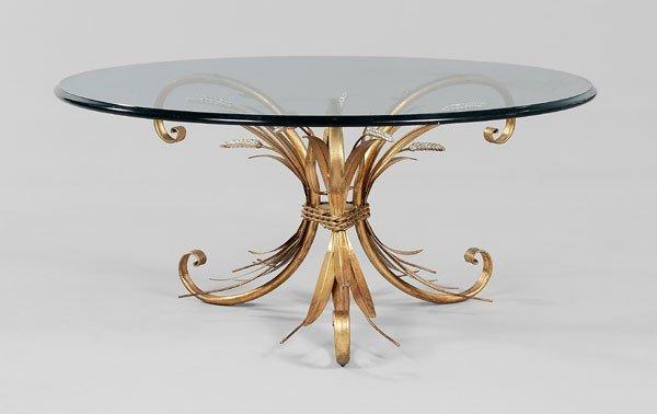667: Gilt and Silvered Metal Coffee Table