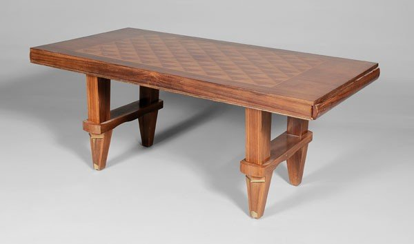 670: French Art Deco Library Table