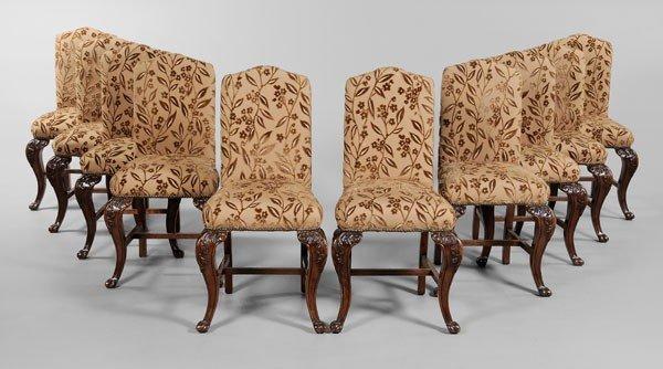 671: Set of Ten Mahogany Dining Chairs