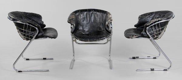 675: Three Mid-Century Modern Chrome