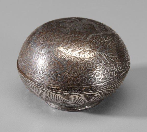 5: Silver-Inlaid Iron Box