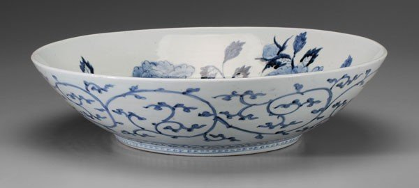 8: Large Arita Porcelain Bowl