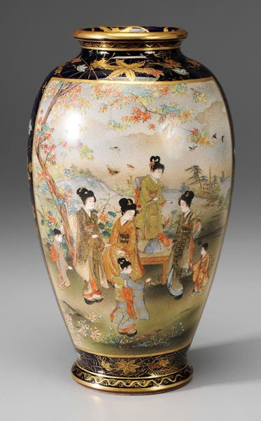 10: Satsuma Earthenware Vase