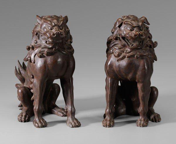 11: Pair Bronze Guardian Dogs (Komainu)