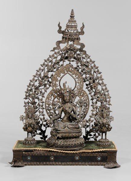 18: Bronze Altar Group of Tara, Kinnara