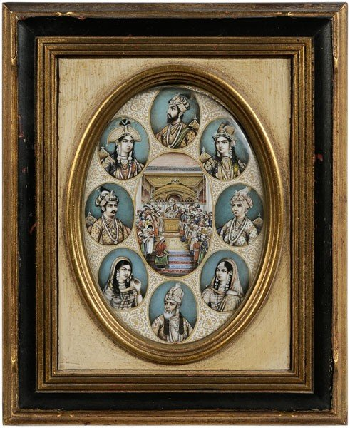 24: Portraits of Mughal Emperors, Wives,
