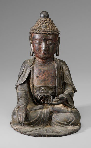 116: Ming Style Bronze Buddha