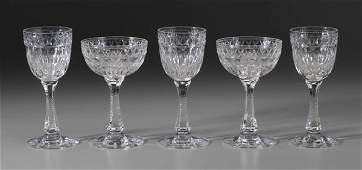 506: Hawkes Cut Glass Stemware