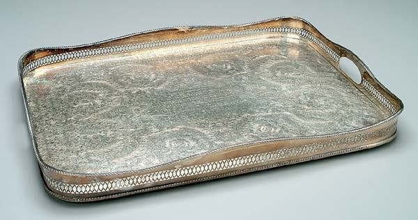1: English silver plated tray,