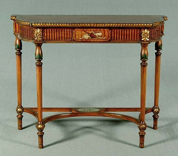 21: Federal-style console table,
