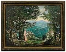 131: Painting by McKendree Long,