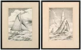 714: Two lithographs by John Moll,