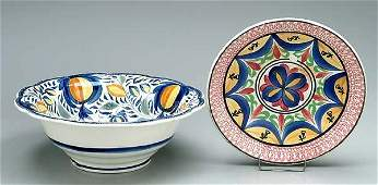 787: Two pearlware bowls: