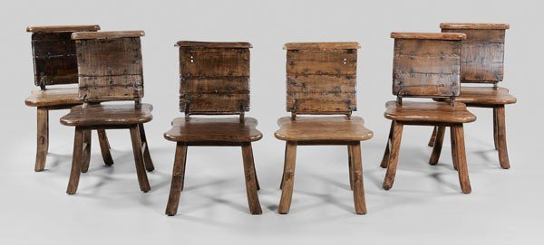 8: Set of Six Barrel-Back Dining Chairs