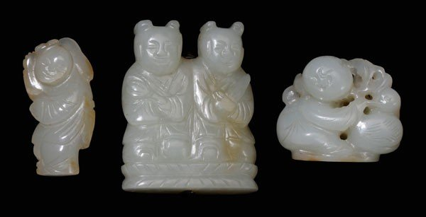 16: Three Pieces White Jade