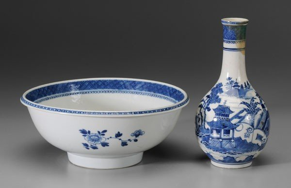 24: Export Porcelain Bowl, Vase