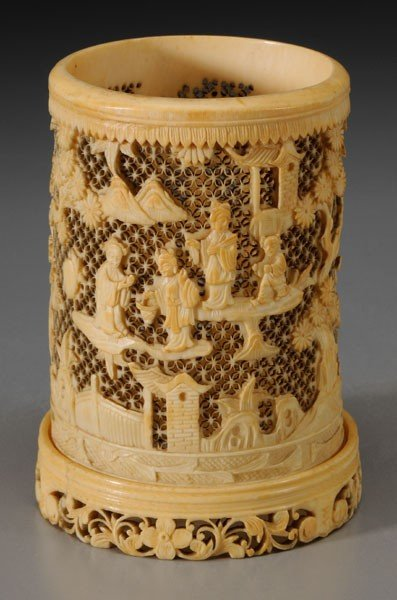 3: Ivory Brush Pot