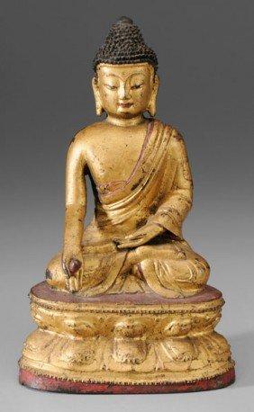 Bronze Figure Of Shakyamuni Buddha