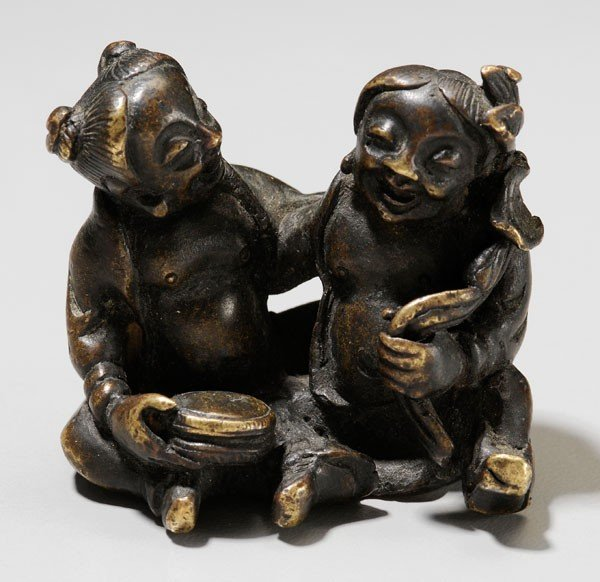 16: Small Bronze Figural Group