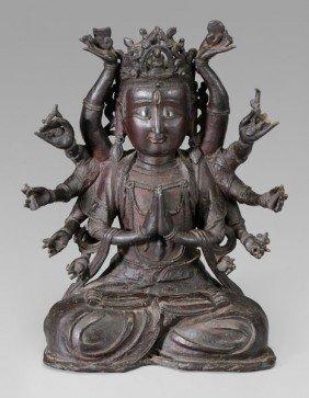 Bronze Figure Of Avalokitesvara