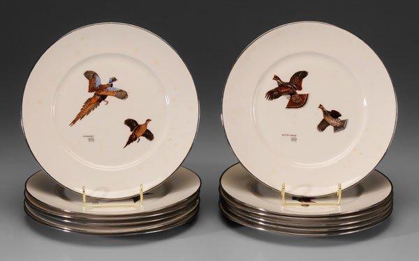 1: Set of 12 Game Bird Plates