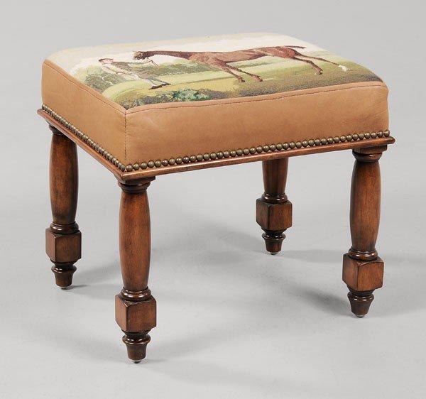 16: Maitland-Smith Needlework Footstool