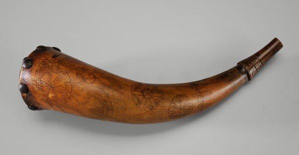 17: Engraved Powder Horn