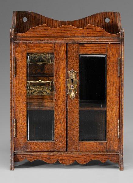 22: Gentleman's Oak Smoking Cabinet