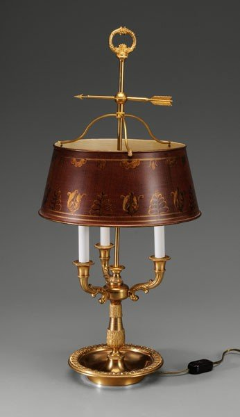 588: Fine Bronze [Bouillotte] Lamp