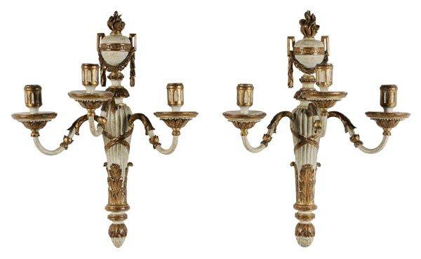 596: Pair Louis XVI Style Sconces