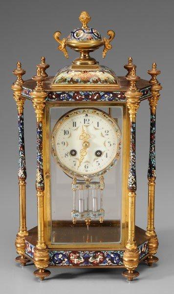 687: French Champleve Shelf Clock
