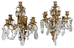 835 Pair Fine Gilt Bronze Sconces
