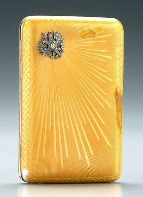 398: Fabergé cigarette box,