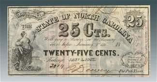 288 Confederate North Carolina currency