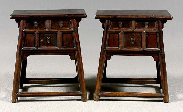 24: Pair Chinese wooden stands: