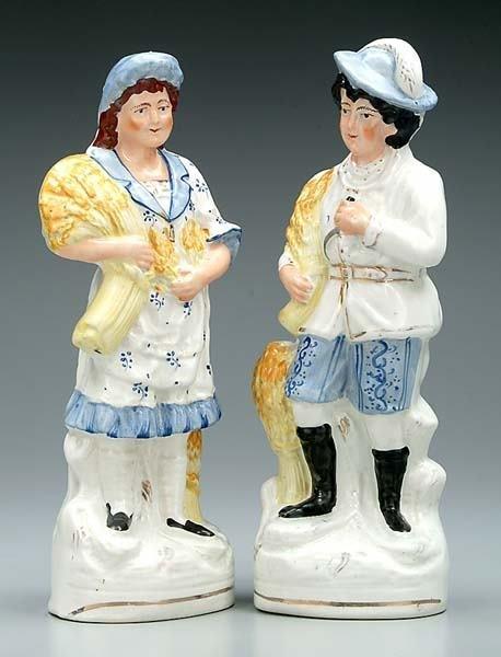 18: Pair Staffordshire figures: