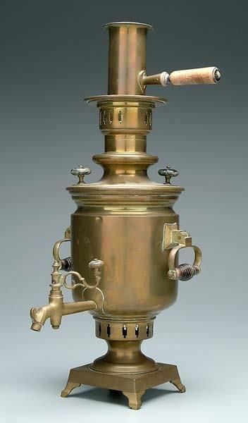 16: Brass samovar,