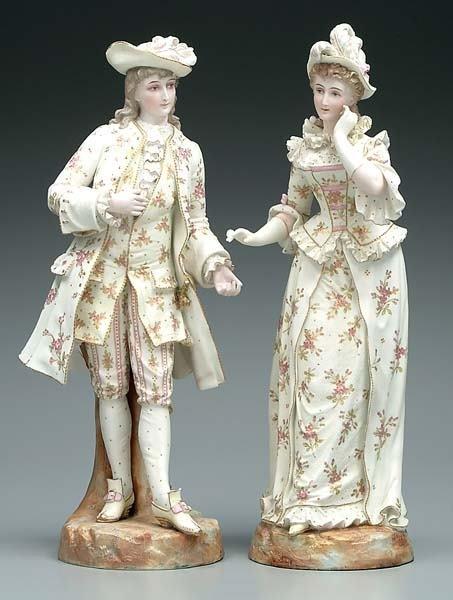 13: Two porcelain figures: