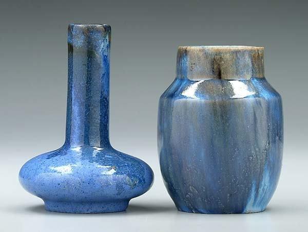 9: Two Fulper vases: