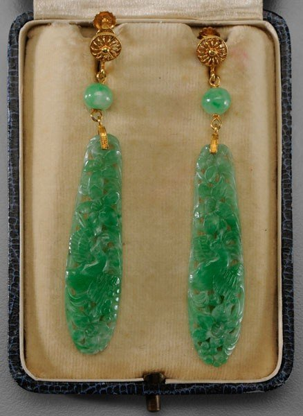 127: Jade Earrings
