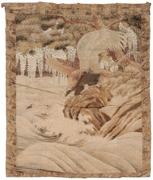 165: Embroidered Panel of an Eagle