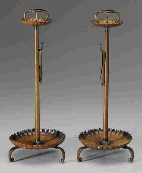 Pair Brass Candlesticks