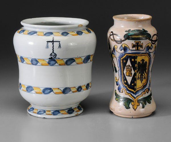 651: Two Faience Jars