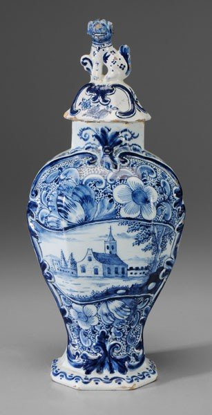 667: Delft Lidded Jar