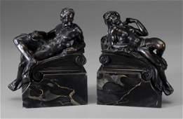 1062 Pair Bronze Bookends